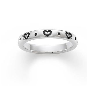 James Avery Stackable heart ring